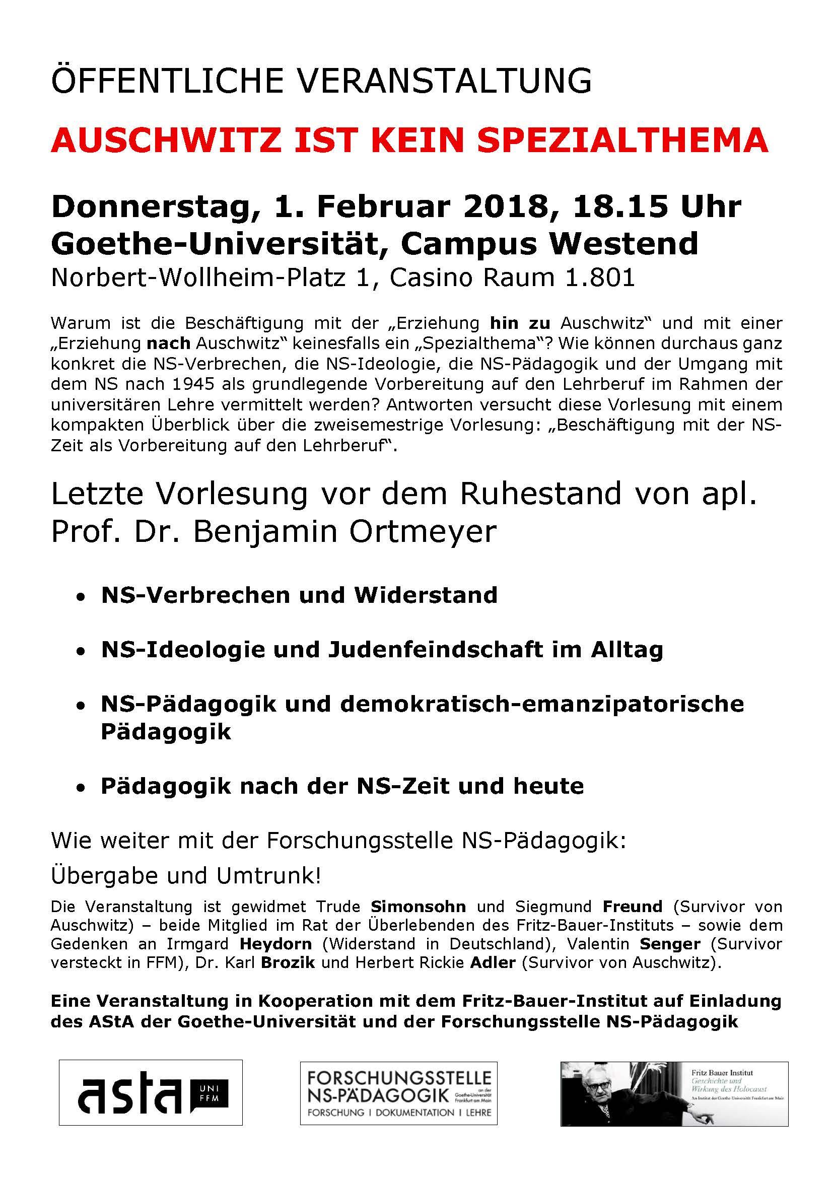 Einladung: Letzte Vorlesung vor dem Ruhestand 1.2.2018 ...